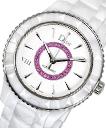DVIII White Dial Ceramic Pink Sapp Ladies Watch Christian Dior