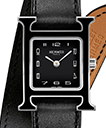 H-Our MM Black Lacquered Dial INT Black Bareia Strap